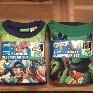 NWT Skylanders Ninja Turtles 2-Piece Sleepwear Set